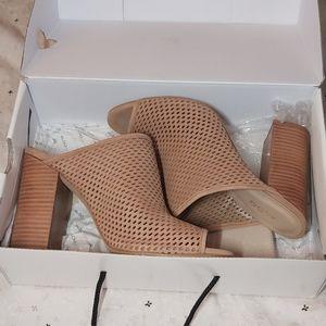 NWT Aldo Tan suede thiasa mule shoes